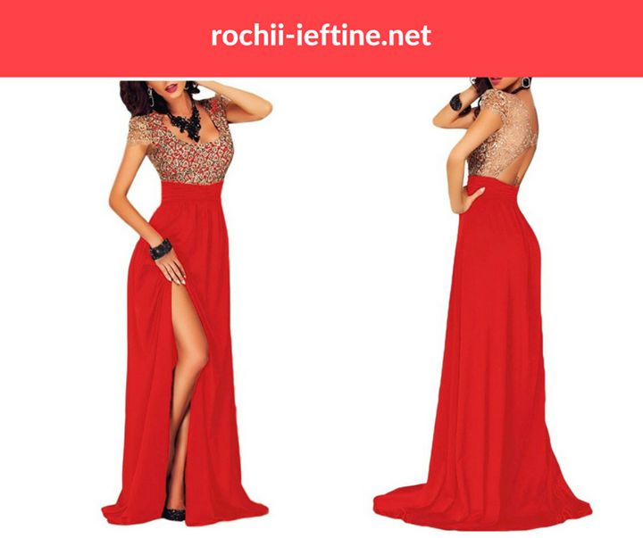 Rochie De Seara Red Lace Pret: 139.00 Lei - https://goo.gl/0kCKUu