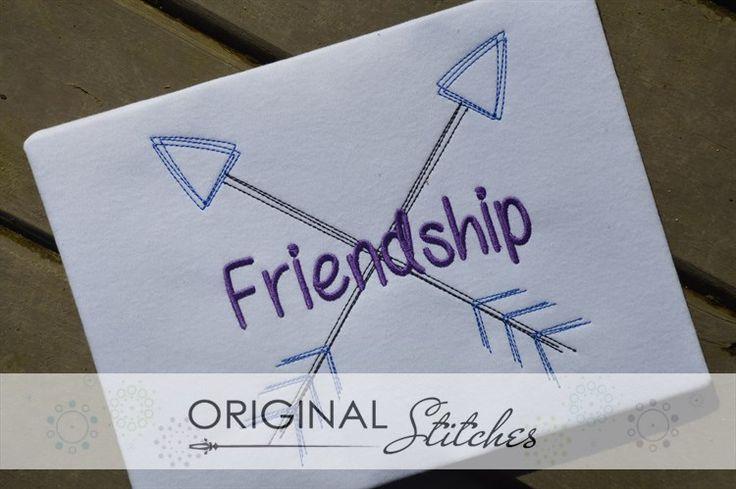 Crossed Arrows - Quick Stitch, Machine Embroidery and Applique Designs Downloads | Original Stitches - Embroidery and Applique Design Store