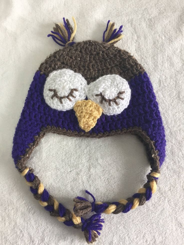 A personal favorite from my Etsy shop https://www.etsy.com/ca/listing/556239910/6-12-month-owl-hat-earflap-hat-trapper
