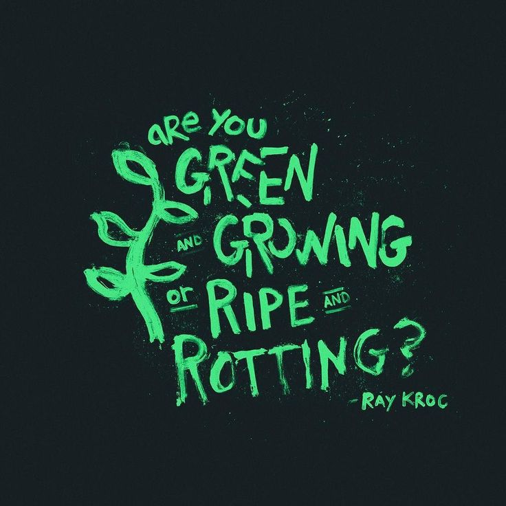 Are you green and growing or ripe and rotting? - Ray Kroc #quote