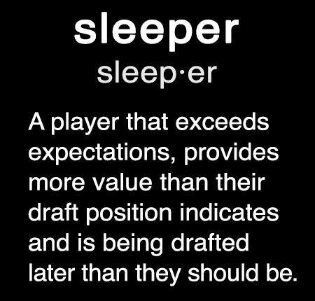 The definition of a fantasy football sleeper #fantasyfootball click on the image for my Top 9 RB sleepers for 2015