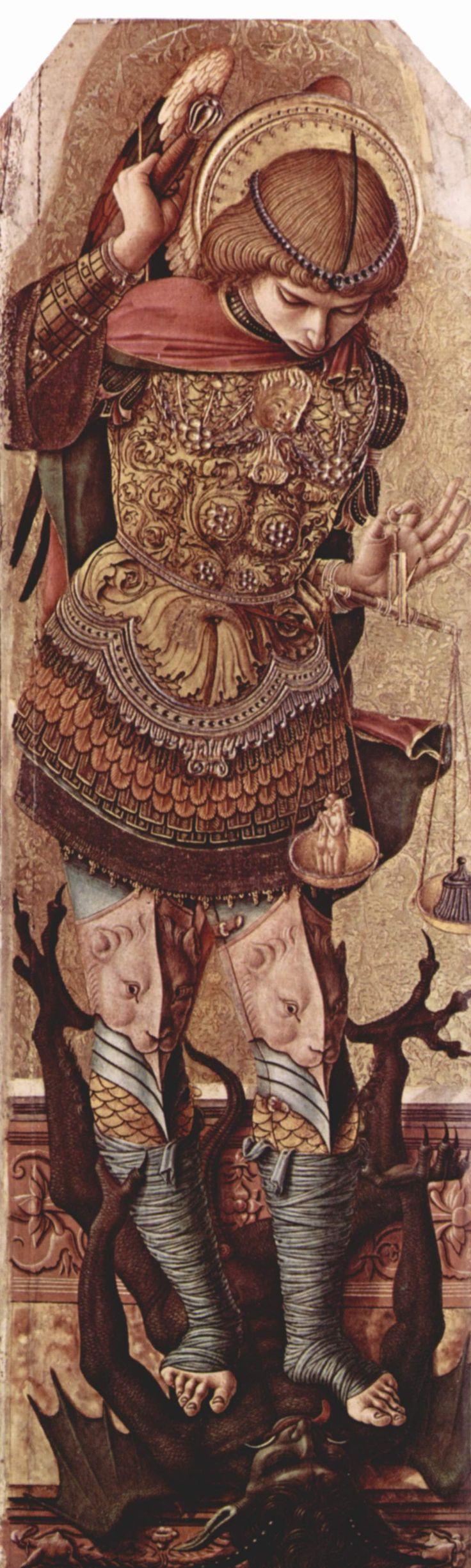 Saint Michael the Archangel - Patron Saint of England - Feast Day is September 29 (Carlo Crivelli's Saint Michael)