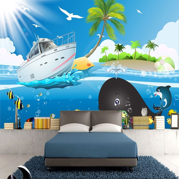17 best ideas about wallpaper for kids room on pinterest for Cartoon mural wallpaper