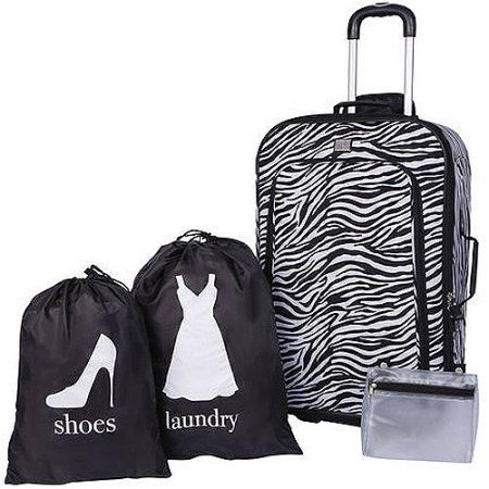 Protege 4-Piece Luggage Set, Multiple Colors, Black