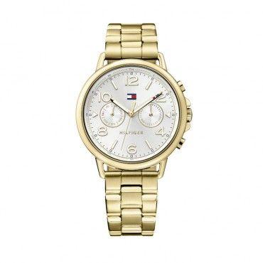 1781732 Γυναικείο ρολόι TOMMY HILFIGER Casey με άσπρο καντράν και χρυσό μπρασελέ | Γυναικεία ρολόγια TOMMY HILFIGER ΤΣΑΛΔΑΡΗΣ στο Χαλάνδρι #Tommy #Hilfiger #επιχρυσο #μπρασελε #ρολοι