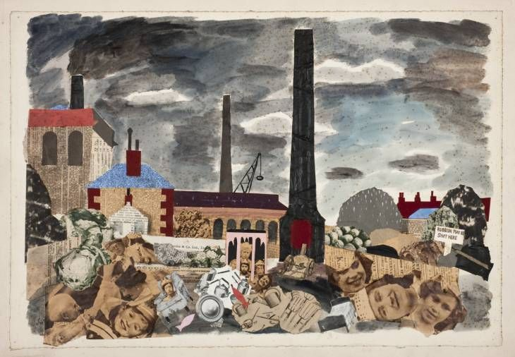 Julian Trevelyan, 'Rubbish May be Shot Here' 1937