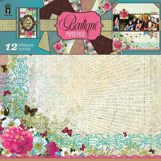 """Craftie-Charlie: Hot Off The Press 12""""x12"""" Paper Pack - Boutique"""