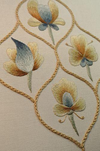 Finished Detail Folk Art Silk Shading Sampler by Rose Red Ruth, via Flickr