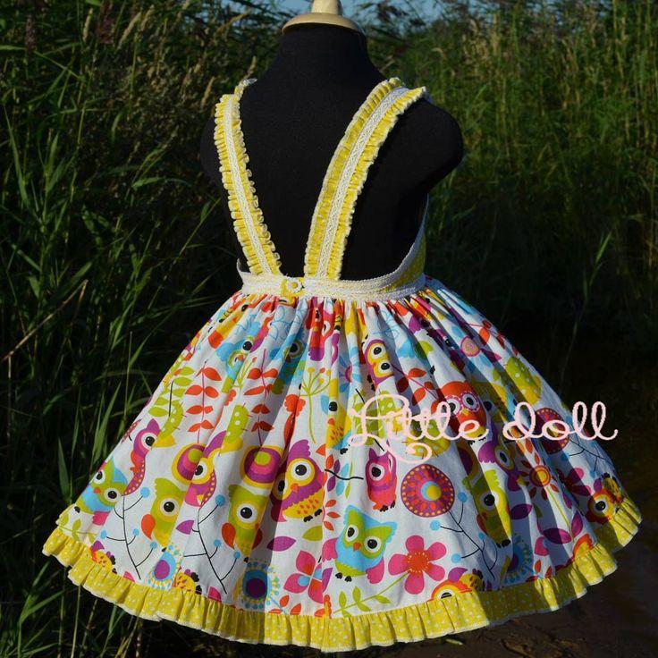 8 отметок «Нравится», 2 комментариев — Яркие платья для девочек (@__little_._doll__) в Instagram: «Яркое платье с совушками с открытой спинкой, украшенное нежной кружевной тесьмой, создаст солнечное…»