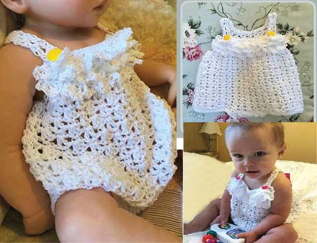 COPY Baby crochet pattern LACY DRESS /& JACKET 3 to 9 months