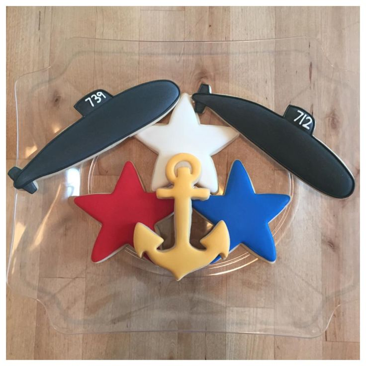 Submarine and Anchor Cookies