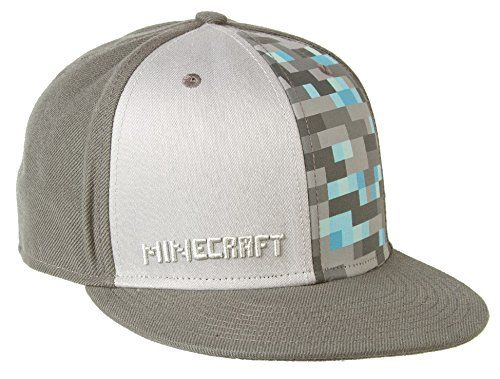 Minecraft - Diamond Adjustable Hat Grey @ niftywarehouse.com