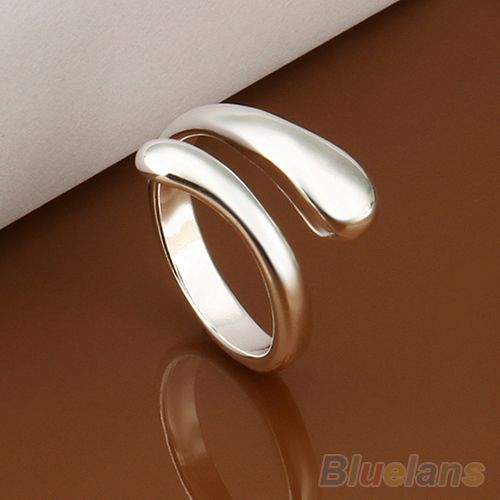 2014 Womens Luxury Silver Plated Snakehead Design Opening Ring  B02 1MJJ