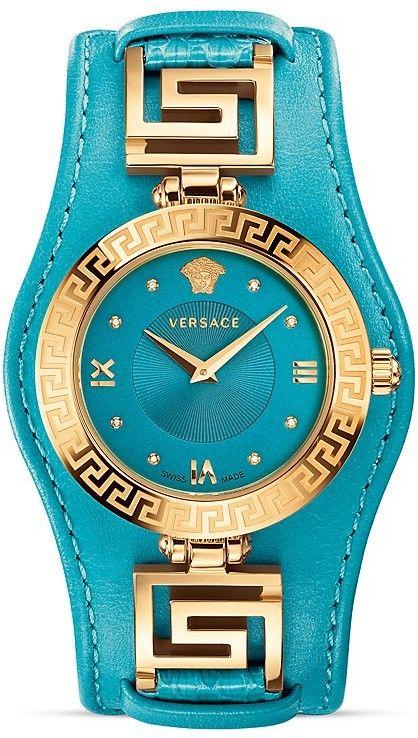 Versace Signature Rose Gold & Diamonds Watch, 35mm