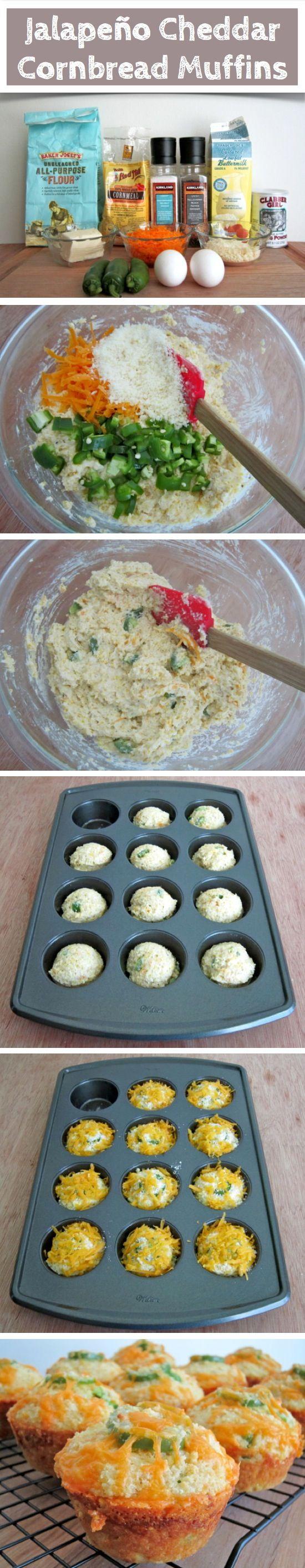 Jalapeño Cheddar Cornbread Muffins