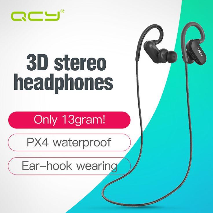 QCY-qy31 ear hook Sports headphones apt-x HIFI 3D stereo earphones 4.1 Wireless Bluetooth Headsets IPX4 sweatproof headphones