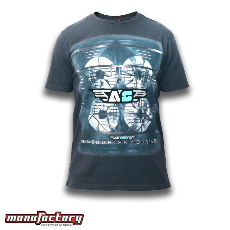 Mens T-shirt, Gridlock, Charcoal