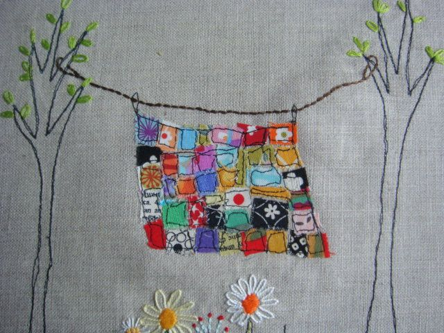 mini-quilt. (wouldn't put a big enough dent in my scrap basket, though)