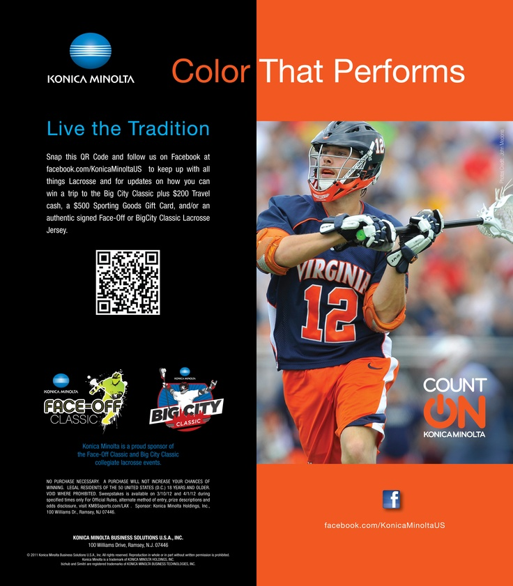 Live the tradition! #CountOnKonicaMinolta #KonicaMinolta #lacrosse #BigCityClassic #Faceoff