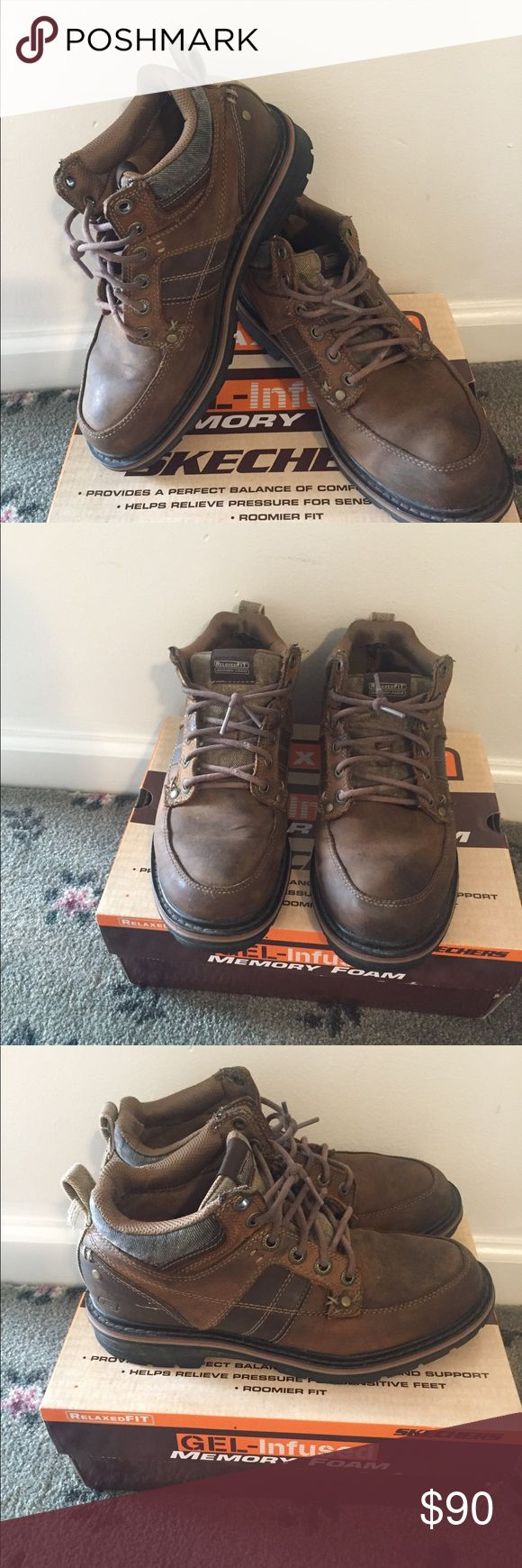 Skechers boots for mens. RelaxedFIT.  Memory Foam. Great condition! Skechers Shoes Boots