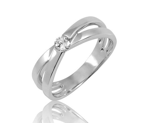 Contact - Bague diamant or blanc - Solitaire diamant rond serti se mi-clos - 0,15 carat  http://www.adamence.com/bague-solitaire-diamant-or-blanc-contact-680