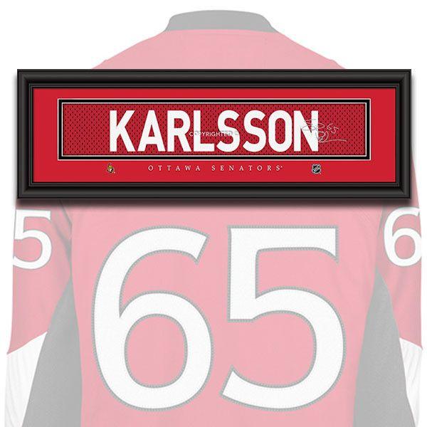 Ottawa Senators - Erik Karlsson - NHL Jersey Name Patch