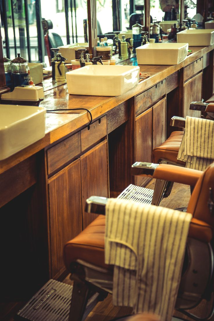 Old barber shop chairs - Customised Apollo 2 Barber Chairs Add To The Authentic Look At Savills Male Grooming