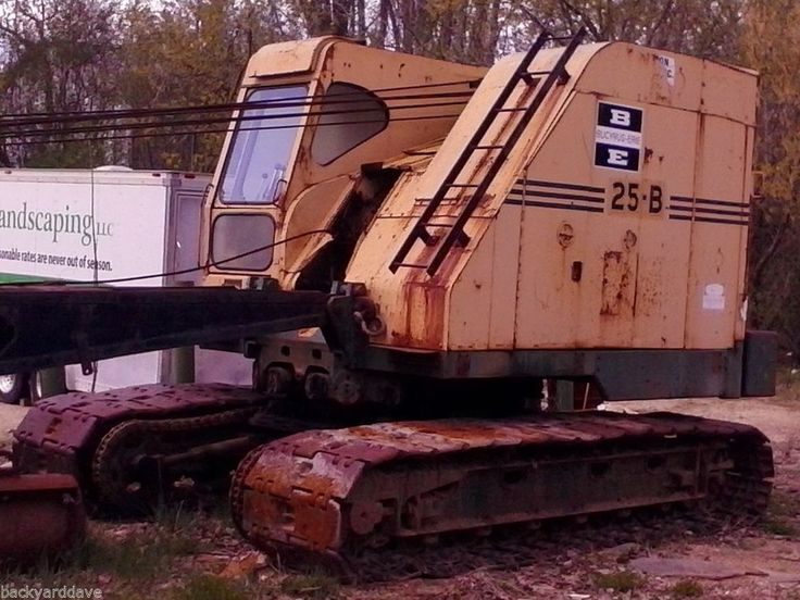 Real Nice Crawler Crane Bucyrus Erie 25B (dragline, pile driver - dragline operator sample resume
