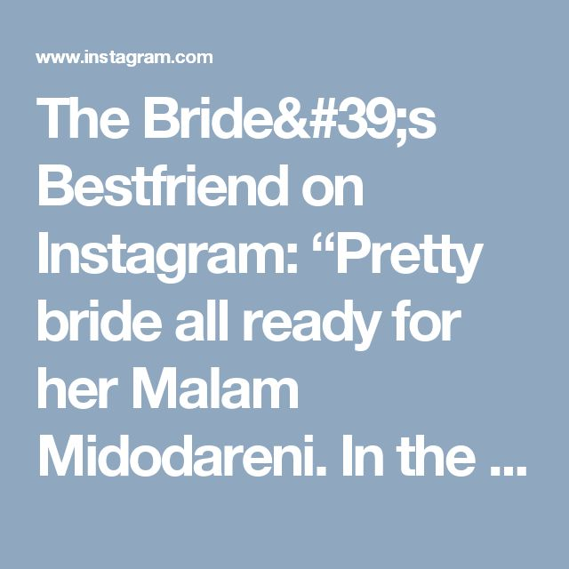 "The Bride's Bestfriend on Instagram: ""Pretty bride all ready for her Malam Midodareni. In the Javanese myth, it is said that during the night of Midodareni, the angels were sent…"""