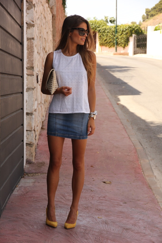 17 best images about jeans skirt outfits on pinterest