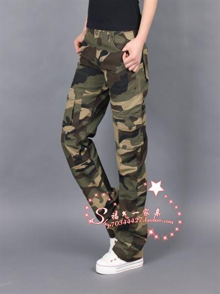 Женские камуфляжные брюки на бедрах