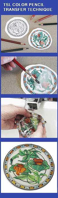 The polymer clay : Translucent Liquid Sculpey TRANSFER