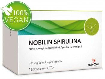 Nobilin Spirulina Tabletten #vegan. darf in keinem guten Haushalt fehlen, wo man etwas auf ganzheitliches Wohlbefinden steht.