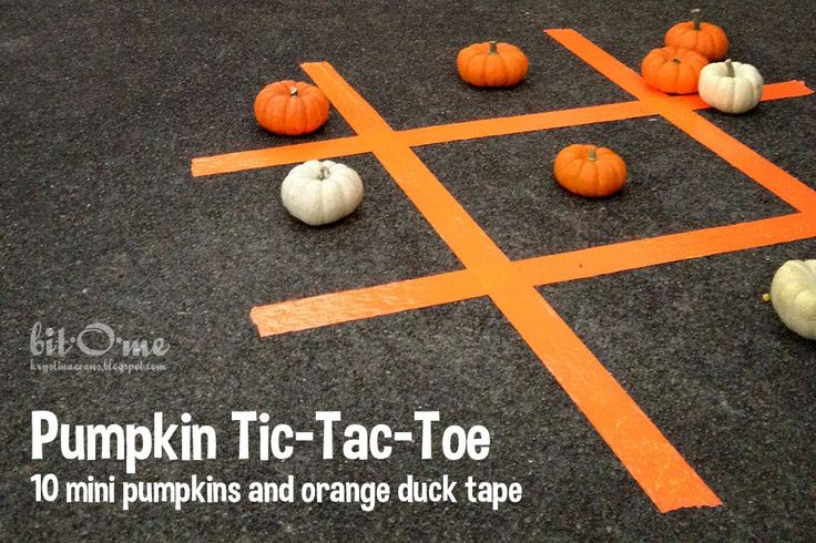 Pumpkin Tic-Tac-Toe. Perfect for Halloween or Fall Festival parties.