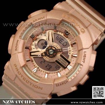 BUY Casio Baby-G Analog Digital 100M Ladies Rose Gold Sport Watch BA-111-4A, BA111 - Buy Watches Online | CASIO NZ Watches