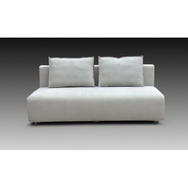 The Palma is a modern, minimal pale grey fabric sofa bed that offers comfortable seating and a no-fuss, easily to convert sofa bed.