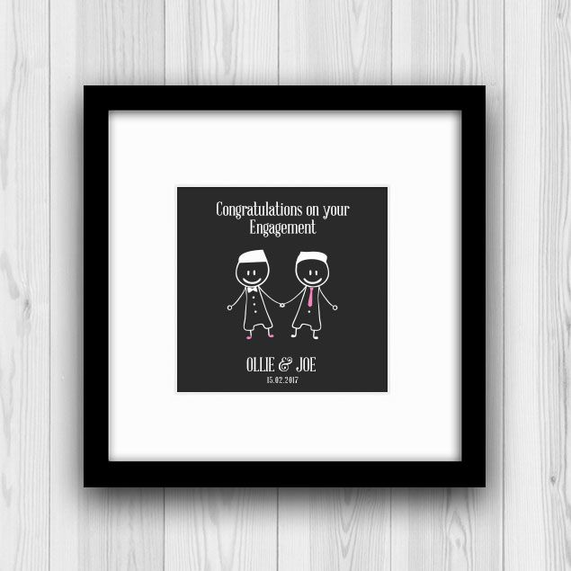 If you are looking for an engagement gift for a gay couple, please look no further! Mr and Mr Engagement Gift is such a unique wedding or engagement gift.