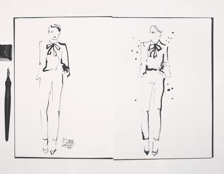 YSL fashion illustration by Wioleta Bąbol