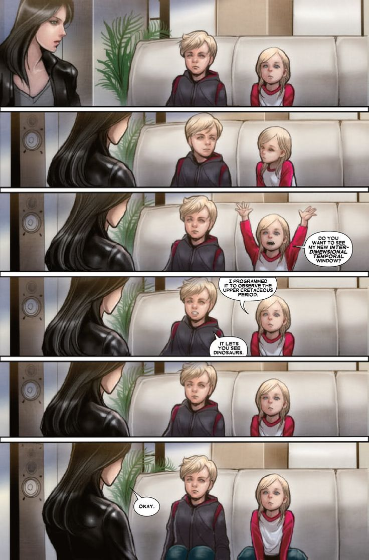 X-23 #17 Valeria and Franklin Richards