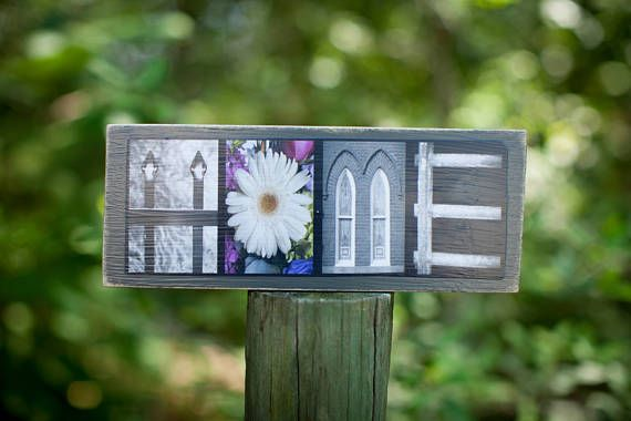 Segno di alfabeto casa arte  foto legno alfabeto segno