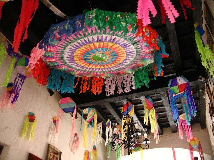 Colorful kites colorful guatemalan kite decorations for Decoration kite