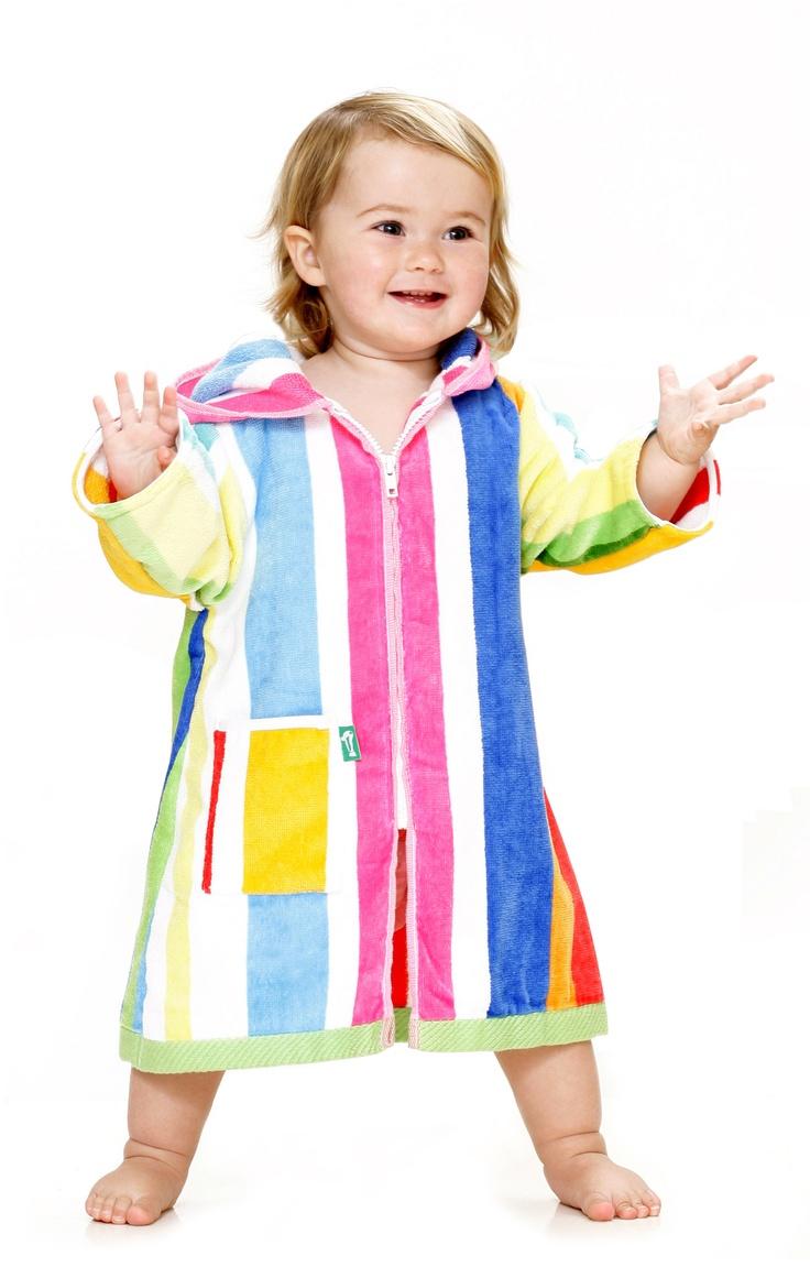 Kids Beach Robe....so practical with the zipper!  Terry Rich Australia