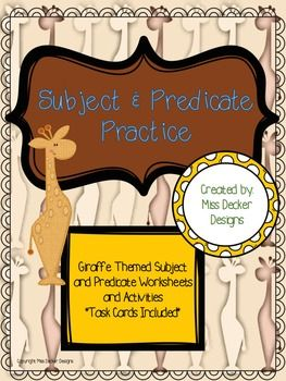 1000+ ideas about Simple Subject And Predicate on Pinterest ...
