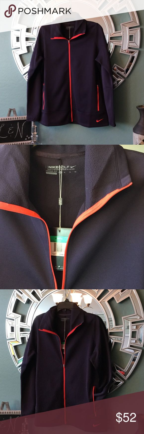NIKE women's Golf Jacket Amazing Nike Golf Jacket. Size XL so pretty and light. Can be worn as a layer piece. Lovely purple with neon trim. 2 inside pockets. All resealable offers considered. Nike Jackets & Coats