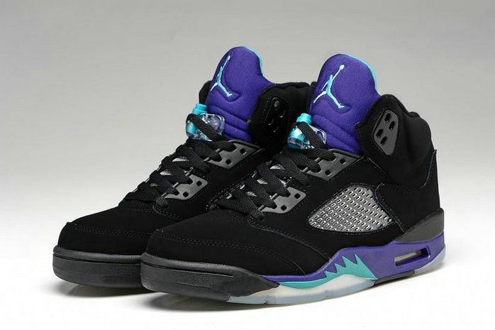 online retailer 82bc5 1082d Jordan 5 Men Super Purple Black Blue Grey