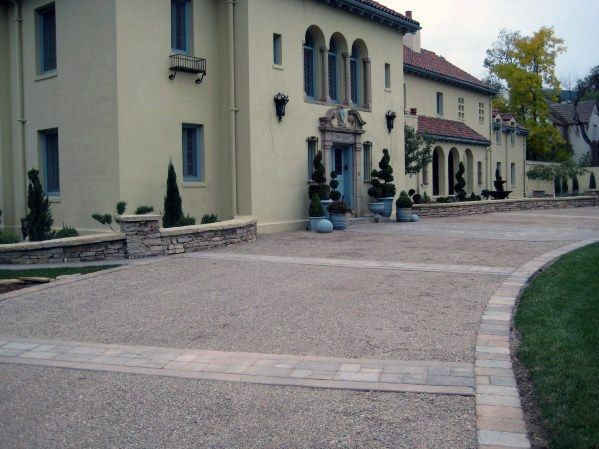 Top 40 Best Driveway Edging Ideas Inviting Border Designs Paver Driveway Stone Driveway Cobblestone Pavers
