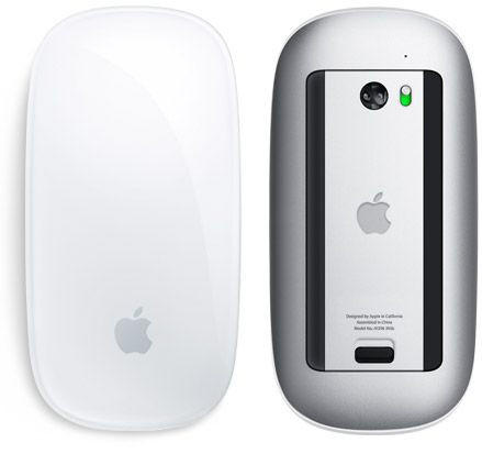 Magic Mouse is an advanced point-and-click mouse that lets you click and double-click anywhere on its Multi-Touch surface.