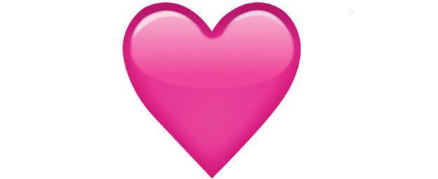 Pink heart emoji