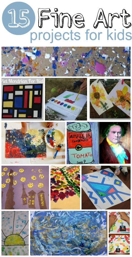 15 fantasic fine art activities for kids: Kids Inspiration, Art Crafts, Activities For Kids, Fantastic Fine, Famous Artists, Fine Art, Fantas Fine, Art Activities, Art Projects