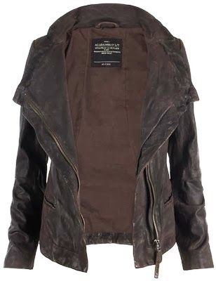 Casual dark brown leather jacket... Gorgeous ...I really really really really want to own this jacket!!!!